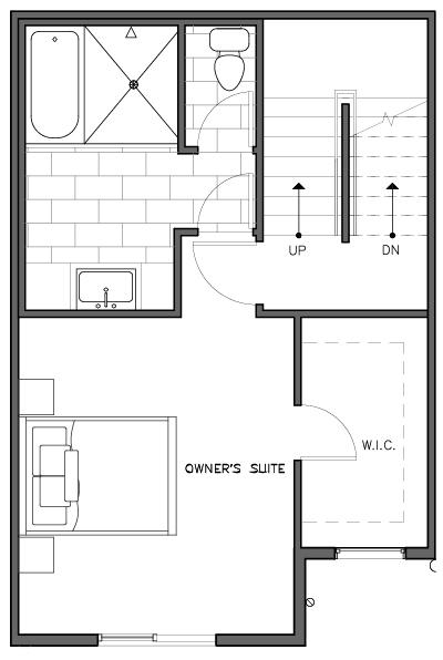 Third Floor Plan of the Nidaros Layout at The Trondheim