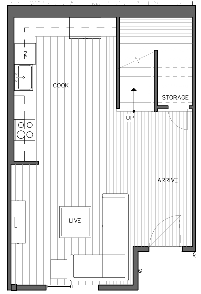 First Floor Plan of the Nidaros Layout at The Trondheim