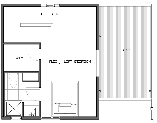 Third Floor Plan of the Lian Layout at The Trondheim in Crown Hill