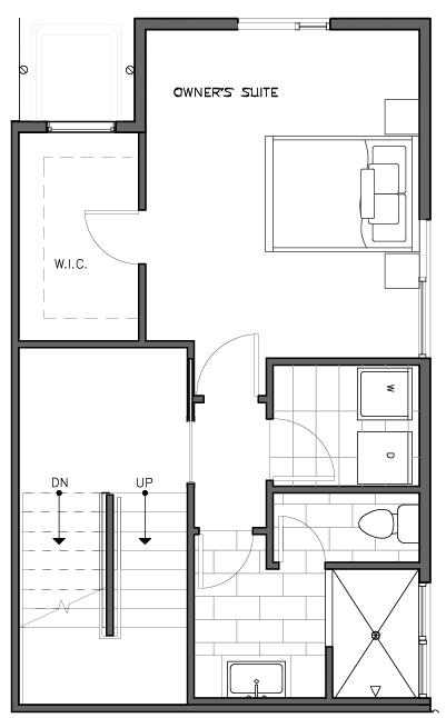 Third Floor Plan of the Kristiansten Layout at The Trondheim in Crown Hill