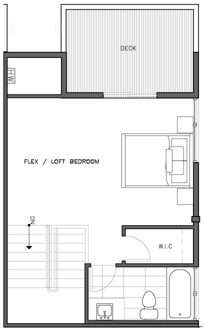 Fourth Floor Plan of the Kristiansten Layout at The Trondheim in Crown Hill