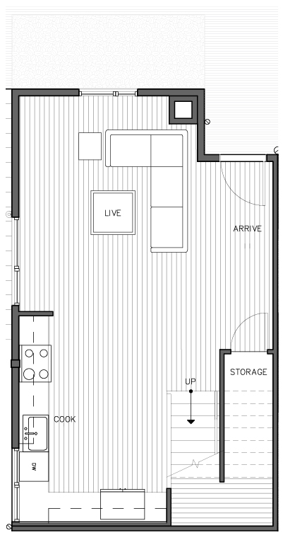 First Floor Plan of the Korsvika Layout at The Trondheim in Crown Hill