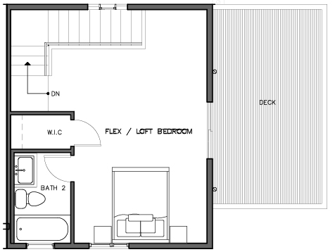 Fourth Floor Plan of the Bakklandet Layout in The Trondheim in Crown Hill
