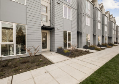 Exterior of The Trondheim Townhomes Along Mary Ave NW in Crown Hill