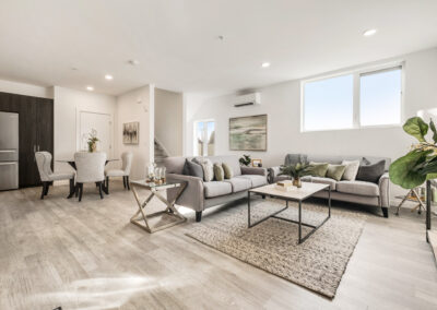 Living Room at 8573 Mary Ave NW with the Lian Floor Plan