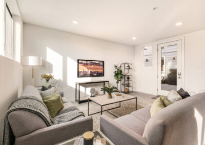 Living Room at 8573 Mary Ave NW, One of the Trondheim Townhomes