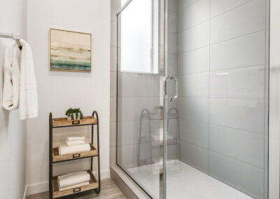 Shower in the Owner's Suite Bath at 8573 Mary Ave NW