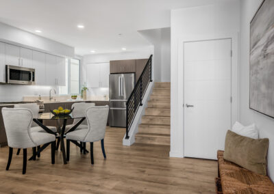 View from the Front Door to the Dining Area and Kitchen at 8559 Mary Ave NW in The Trondheim