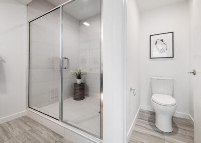 Shower in the Owner's Suite Bath at 8569 Mary Ave NW in The Trondheim